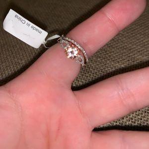 Jewelry - ***FINAL PRICE DROP*** NWT Morganite Bridal Set